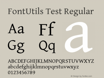 FontUtils Test