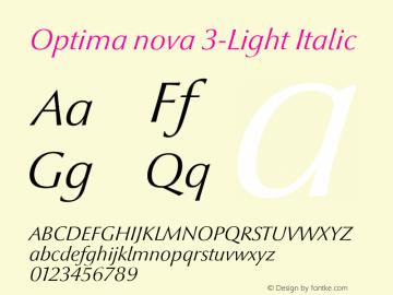 Optima nova 3-Light