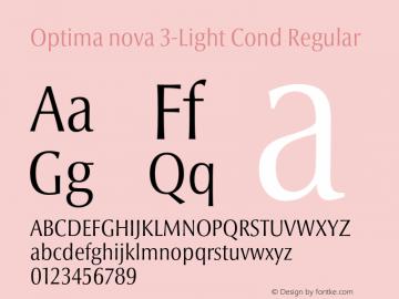 Optima nova 3-Light Cond