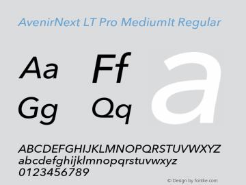 AvenirNext LT Pro MediumIt