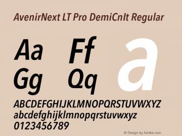 AvenirNext LT Pro DemiCnIt