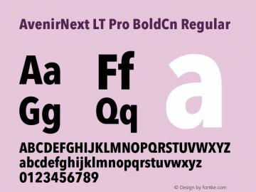 AvenirNext LT Pro BoldCn
