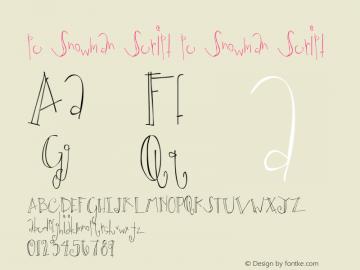pc Snowman Script