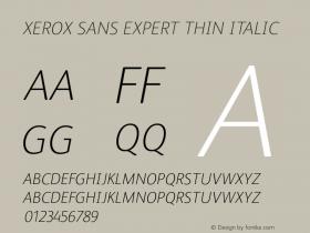 Xerox Sans Expert Thin
