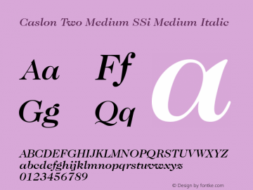 Caslon Two Medium SSi