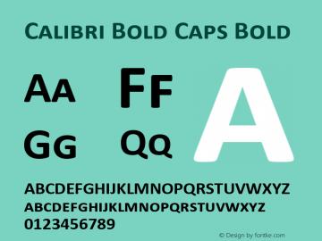 Calibri Bold Caps
