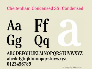 Cheltenham Condensed SSi