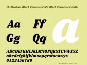 Cheltenham Black Condensed SSi