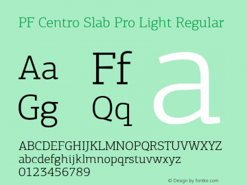 PF Centro Slab Pro Light