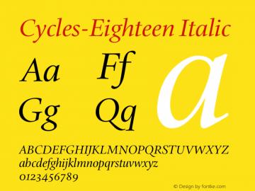 Cycles-Eighteen