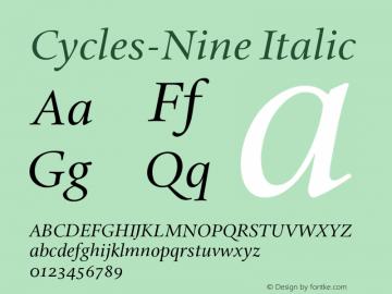 Cycles-Nine