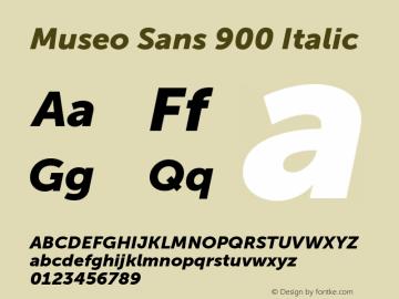 Museo Sans 900
