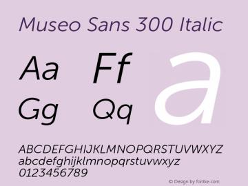 Museo Sans 300