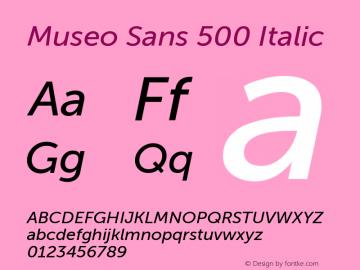 Museo Sans 500