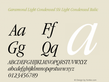 Garamond Light Condensed SSi