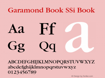 Garamond Book SSi
