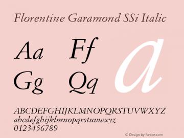 Florentine Garamond SSi