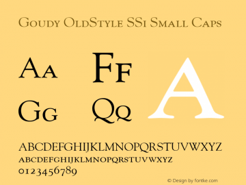 Goudy OldStyle SSi