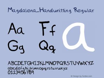 Magdalena_Handwritting
