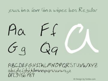 jesus in a font (in a wipee box