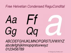 Free Helvetian Condensed