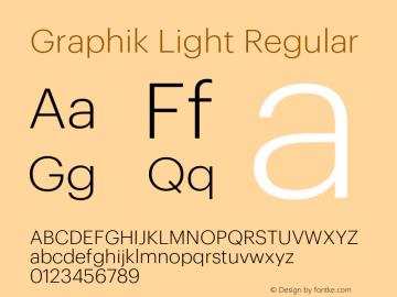 Graphik Light