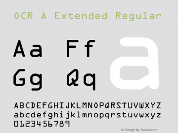 OCR A Extended