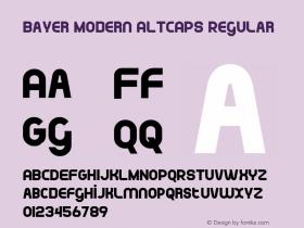 Bayer Modern ALTCAPS