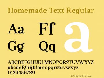 Homemade Text