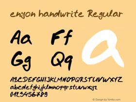 enyon handwrite