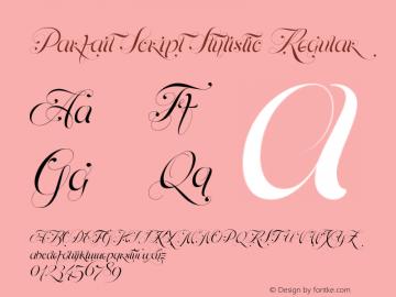 Parfait Script Stylistic