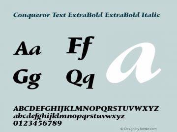 Conqueror Text ExtraBold