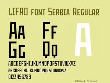 LIFAD font Serbia