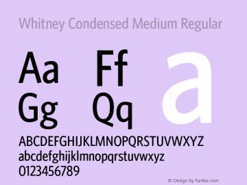 Whitney Condensed Medium
