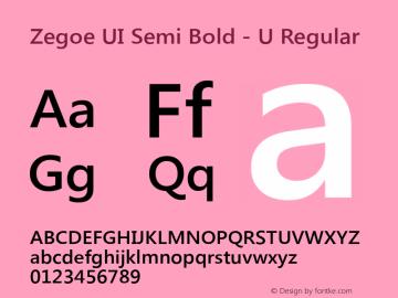 Zegoe UI Semi Bold - U