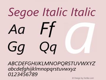 Segoe Italic