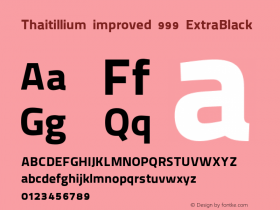 Thaitillium improved 999
