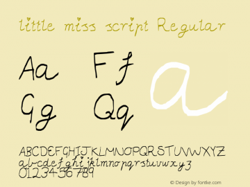 little miss script