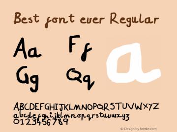 Best font ever
