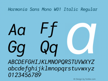 Harmonia Sans Mono Italic