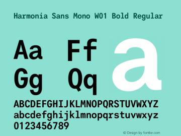 Harmonia Sans Mono Bold