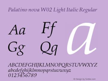 Palatino nova Light Italic