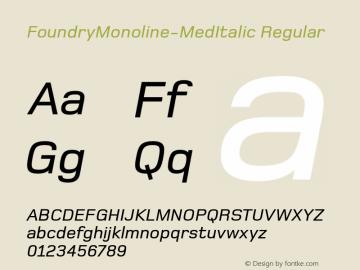 FoundryMonoline-MedItalic