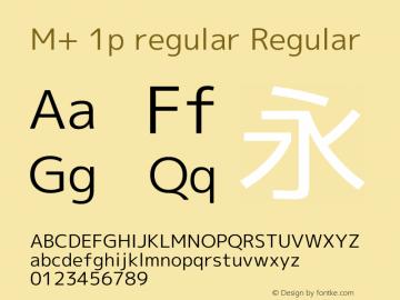 M+ 1p regular