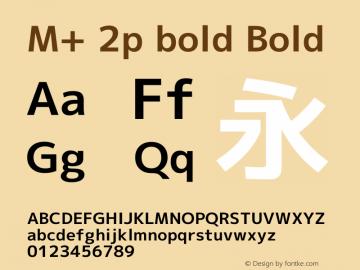 M+ 2p bold