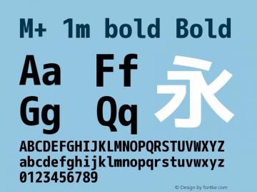M+ 1m bold