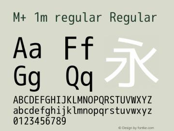M+ 1m regular