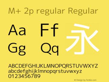 M+ 2p regular