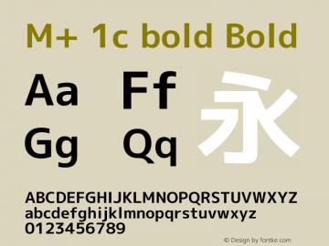 M+ 1c bold