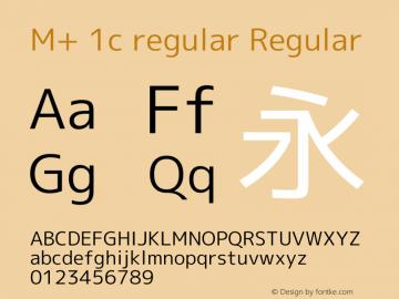 M+ 1c regular